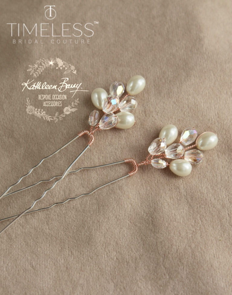 Minette hair pin rose gold kathleen barry timeless bridal (1) (1)