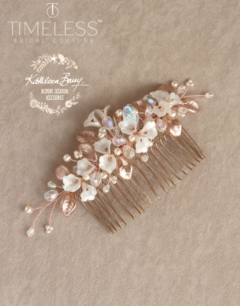 Nadine hair comb rose gold ivory kathleen barry timeless bridal (1) (1)