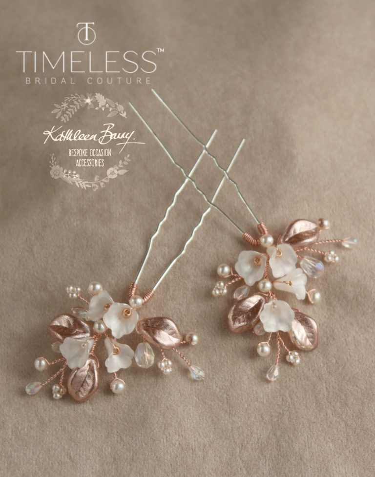 Nadine hair pin rose gold ivory kathleen barry timeless bridal (1) (1)