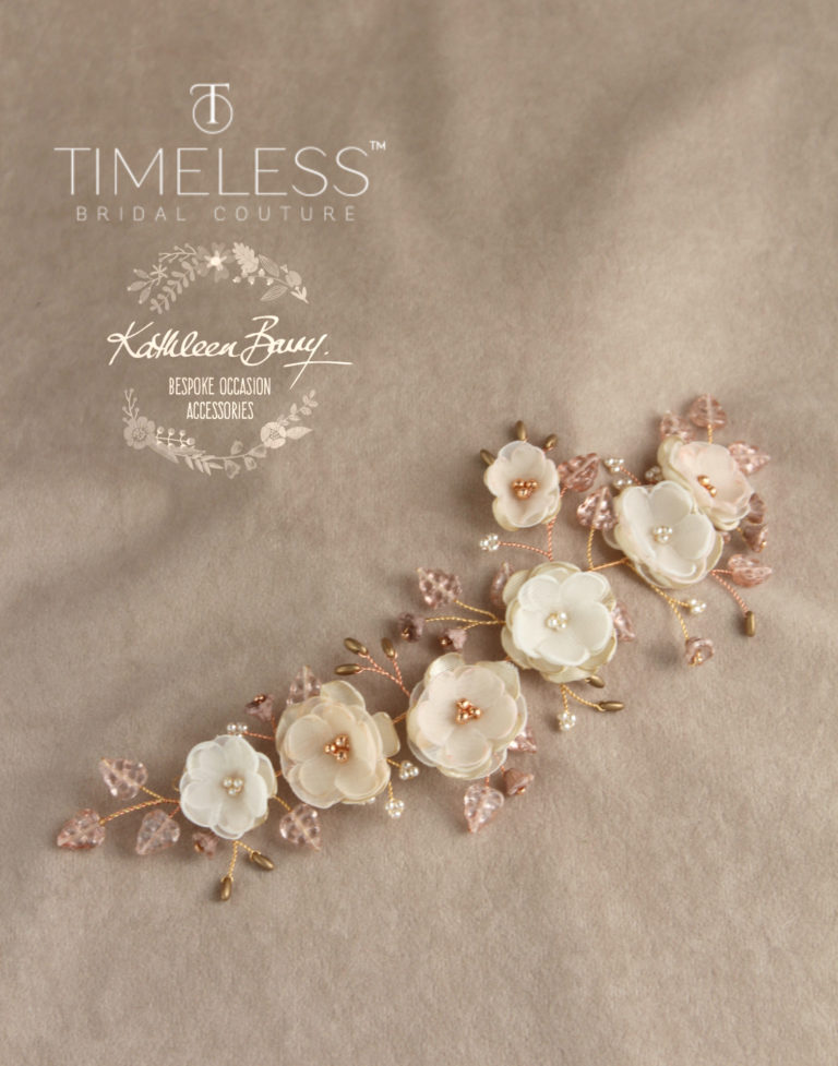 Stacey flower hair vine rose gold blush pink champagne kathleen barry timeless bridal (1)