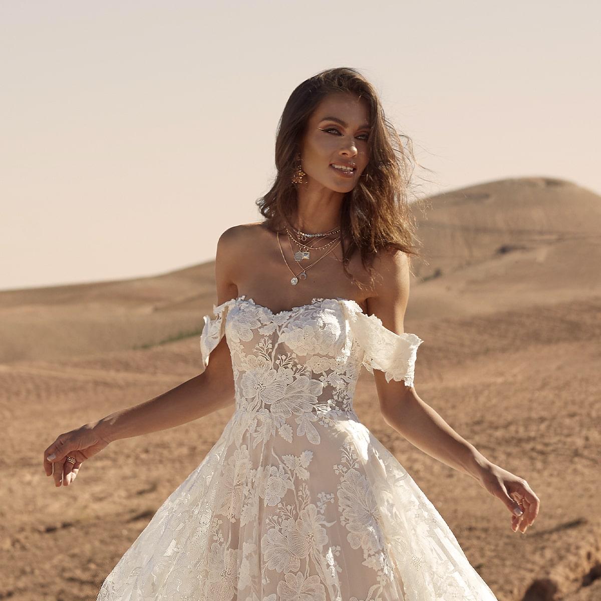 Off Shoulder Wedding Dress Trends