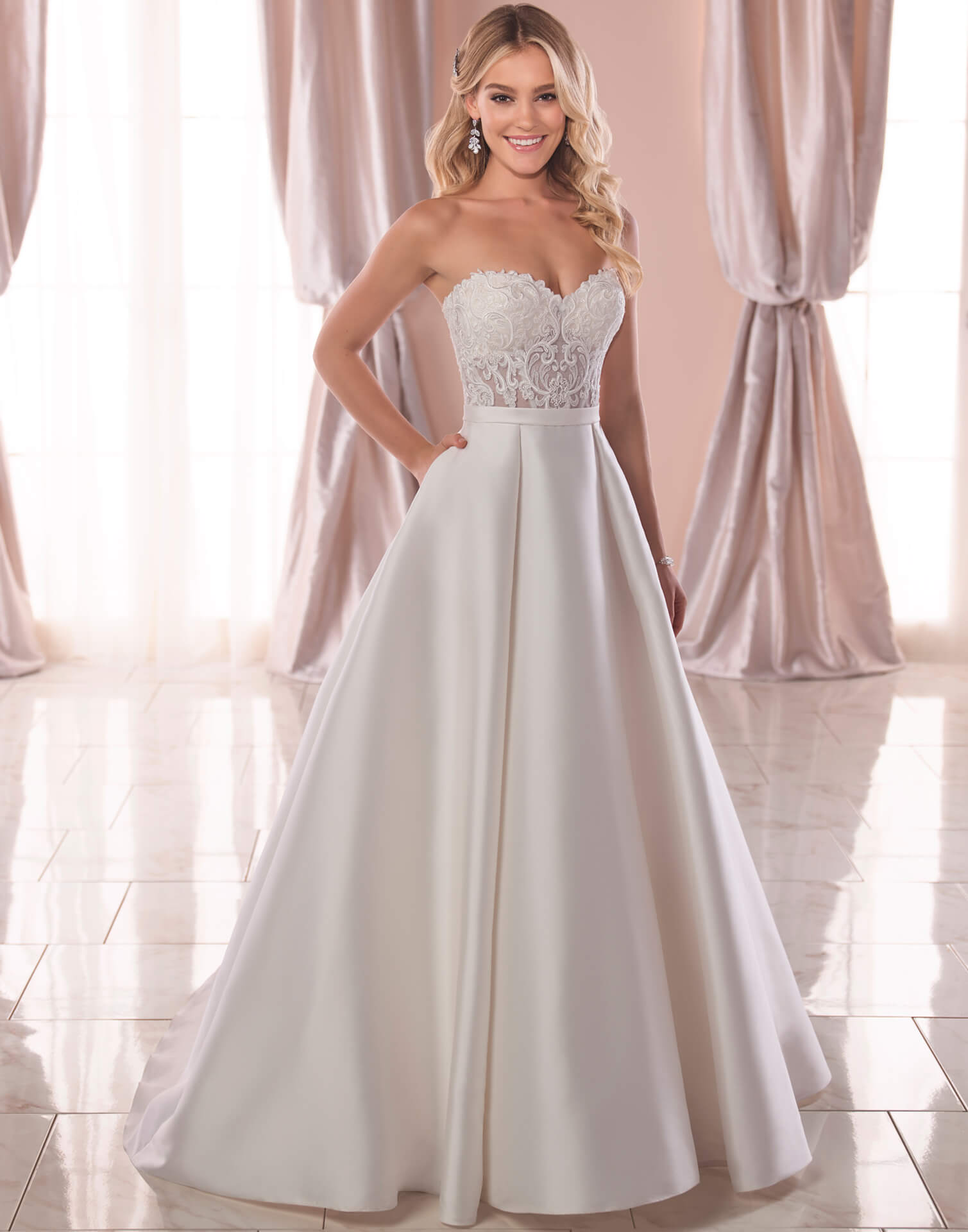 6763 – Stella York Wedding Dress Collection – Front View
