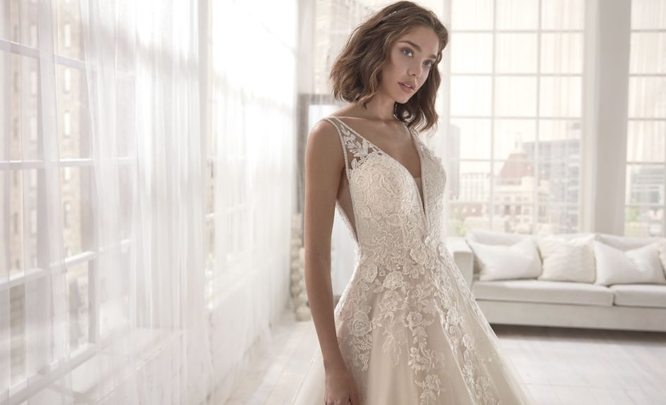 Beautiful Lace Detail Wedding Dresses - Colet Collection