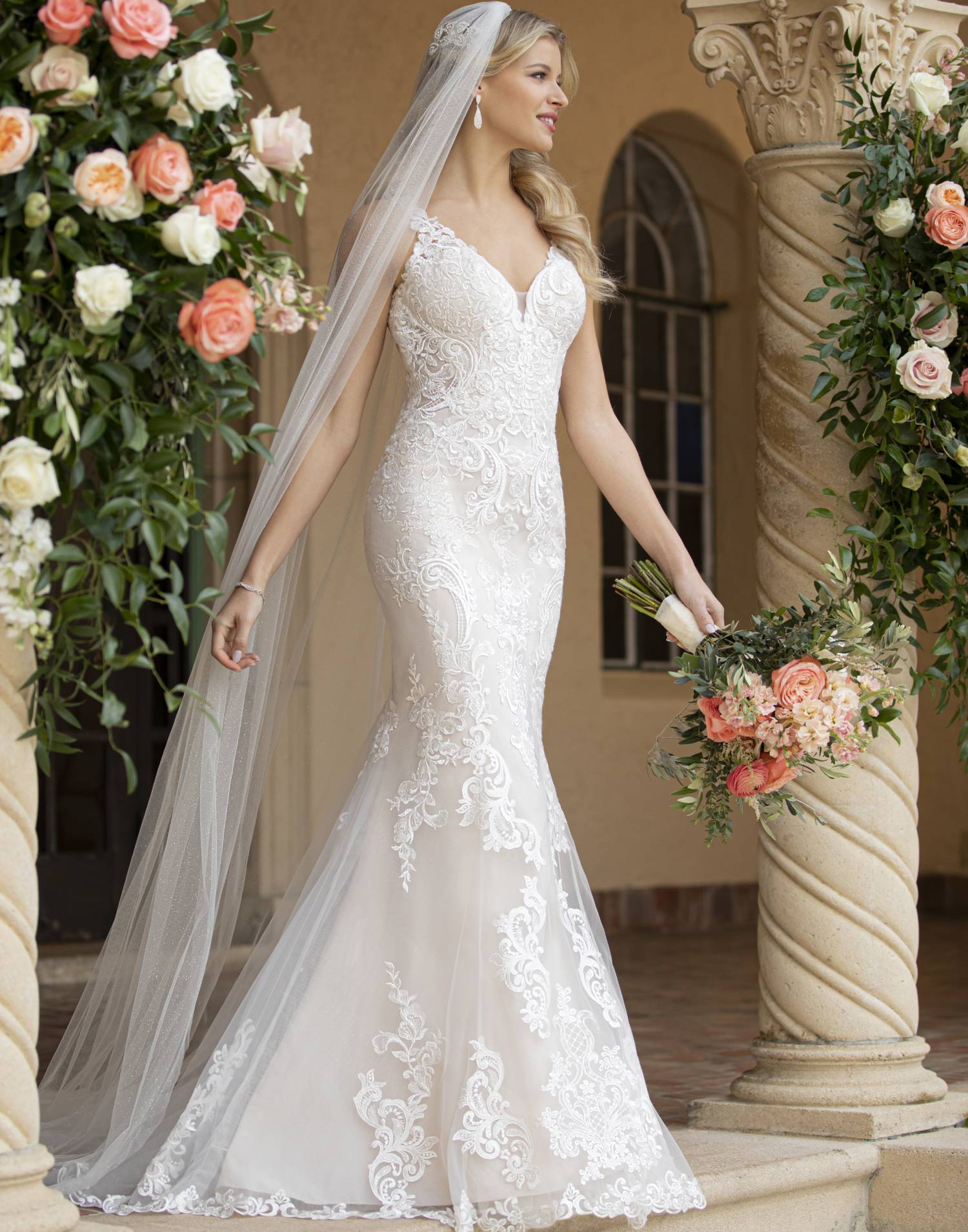 D3063 – Essense of Australia Wedding Dress Collection – Front View