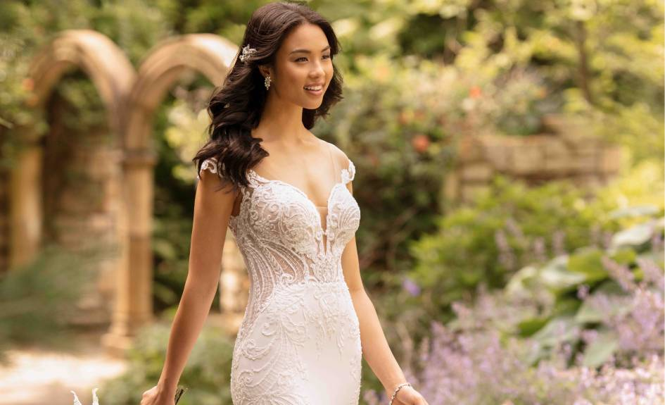 Lace Wedding Dress - Essense of Australia