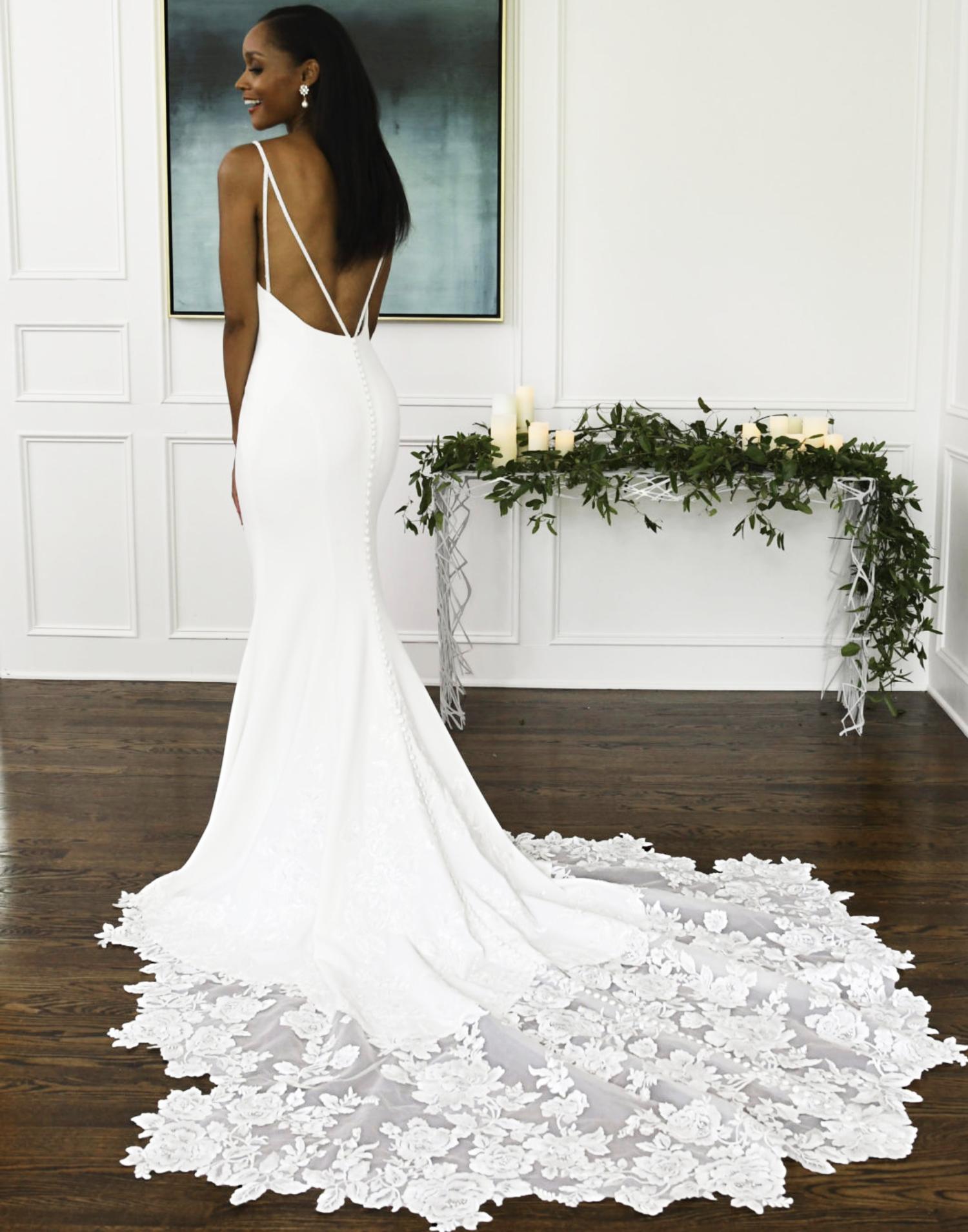 D3112 – Essense of Australia Wedding Dress Collection – Front View