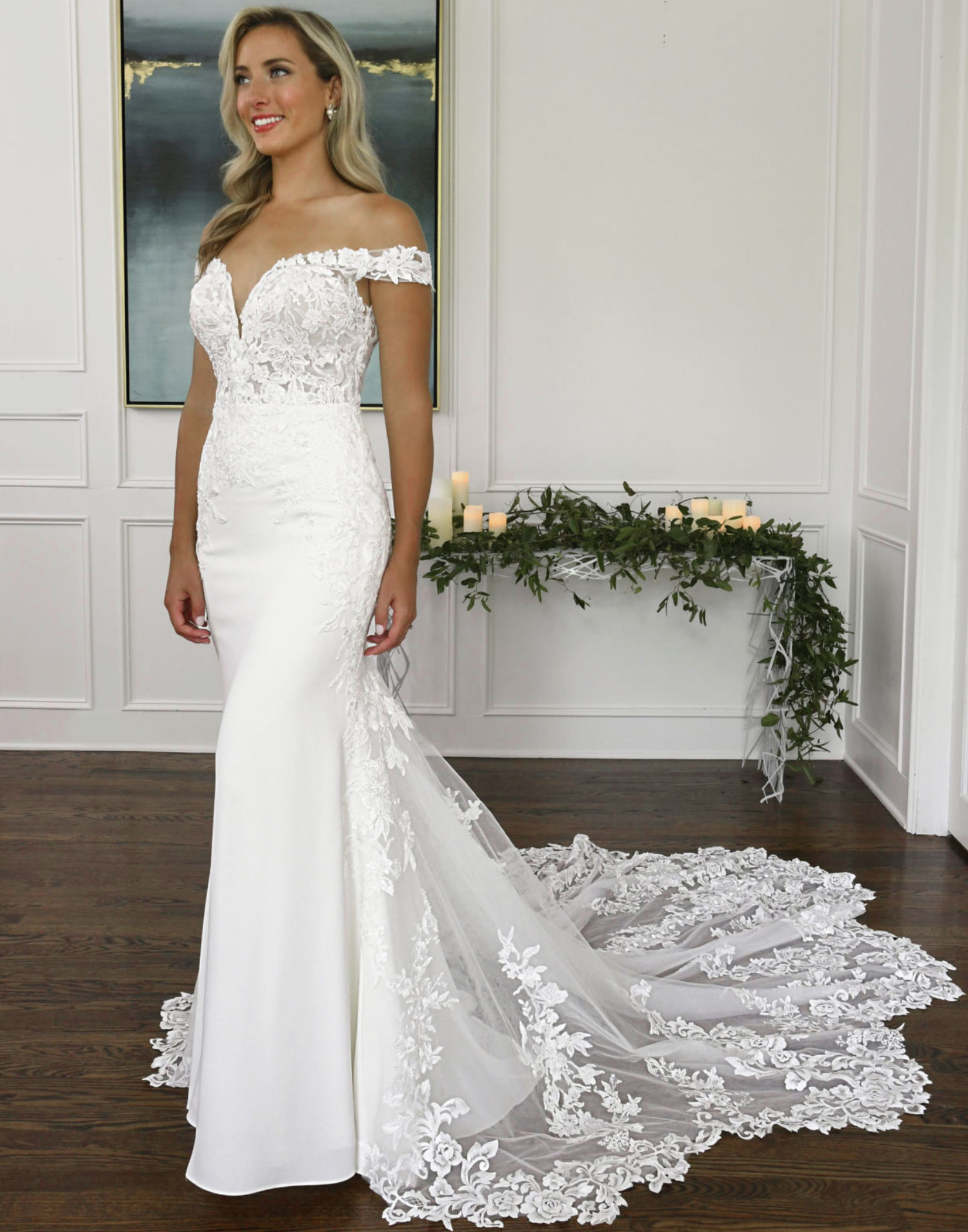D3247 – Essense of Australia Wedding Dress Collection – Front View