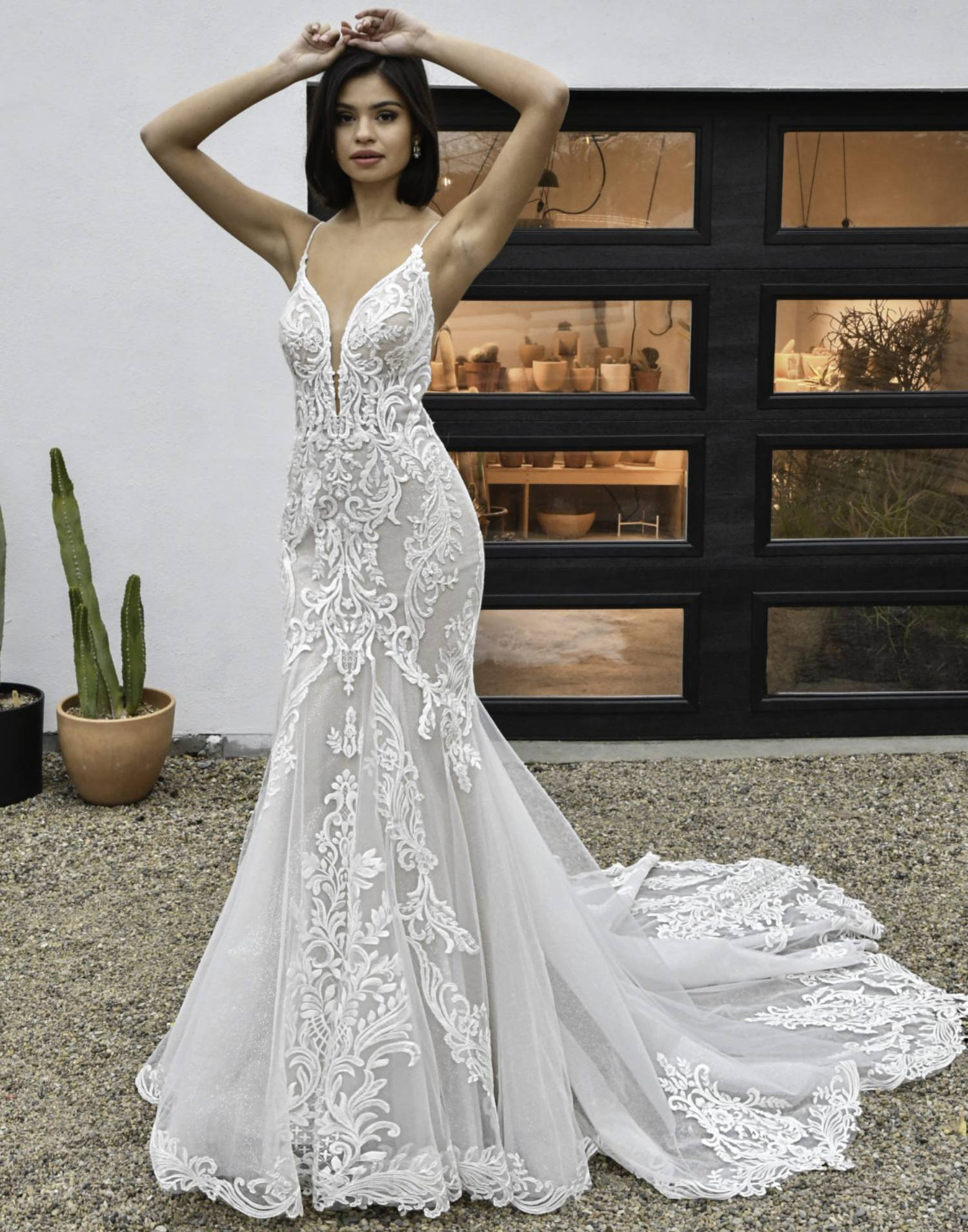 D3249 – Essense of Australia Wedding Dress Collection – Front View
